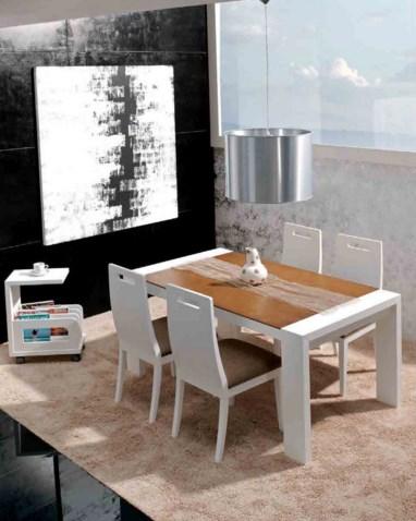 Sillas de comedor modernas best silla de cuero tapizada - Mesas y sillas modernas ...